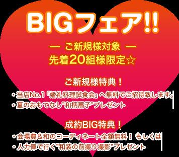 年3回限定!ブライダルフェア開催 2017年最後のBIGフェア!!